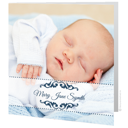 Christening - Baby Card - Dark Blue