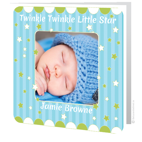 Christening Cards -Twinkle Tinkle little star